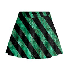 STR3 BK-GR MARBLE (R) Mini Flare Skirt