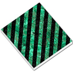 Stripes3 Black Marble & Green Marble Small Memo Pads