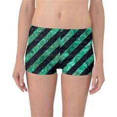 STR3 BK-GR MARBLE Boyleg Bikini Bottoms