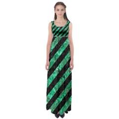 STR3 BK-GR MARBLE Empire Waist Maxi Dress
