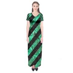 STR3 BK-GR MARBLE Short Sleeve Maxi Dress