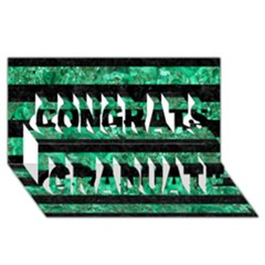 Stripes2 Black Marble & Green Marble Congrats Graduate 3d Greeting Card (8x4)