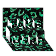Skin5 Black Marble & Green Marble (r) Take Care 3d Greeting Card (7x5)