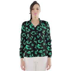 Skin5 Black Marble & Green Marble (r) Wind Breaker (women)
