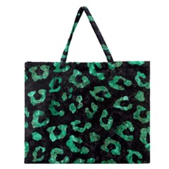 SKN5 BK-GR MARBLE (R) Zipper Large Tote Bag