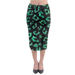 SKN5 BK-GR MARBLE (R) Midi Pencil Skirt
