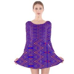 Tishrei Long Sleeve Velvet Skater Dress
