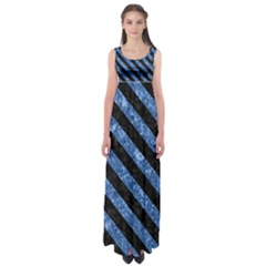 STR3 BK-BL MARBLE (R) Empire Waist Maxi Dress