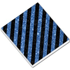 Stripes3 Black Marble & Blue Marble Small Memo Pads