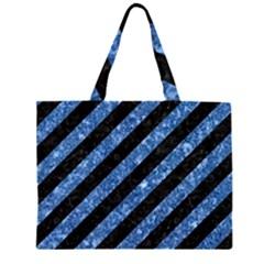 STR3 BK-BL MARBLE Large Tote Bag