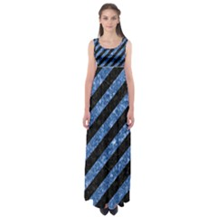 STR3 BK-BL MARBLE Empire Waist Maxi Dress
