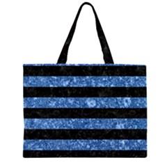 STR2 BK-BL MARBLE Large Tote Bag