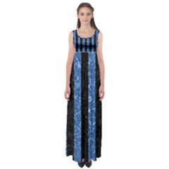 STR1 BK-BL MARBLE Empire Waist Maxi Dress