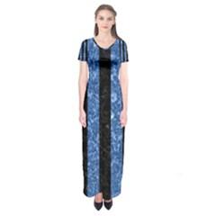 STR1 BK-BL MARBLE Short Sleeve Maxi Dress