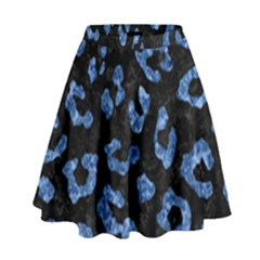 Skin5 Black Marble & Blue Marble (r) High Waist Skirt
