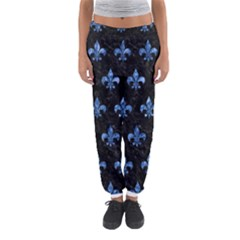 Royal1 Black Marble & Blue Marble (r) Women s Jogger Sweatpants
