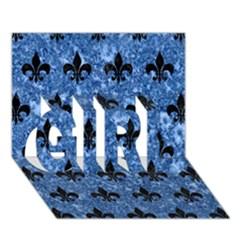 RYL1 BK-BL MARBLE GIRL 3D Greeting Card (7x5)