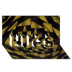 Bold Geometric HUGS 3D Greeting Card (8x4)