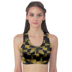 Bold Geometric Sports Bra