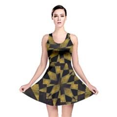 Bold Geometric Reversible Skater Dress