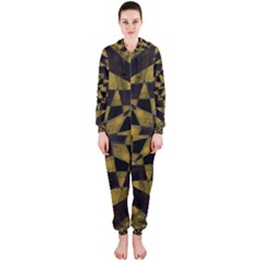 Bold Geometric Hooded Jumpsuit (Ladies)