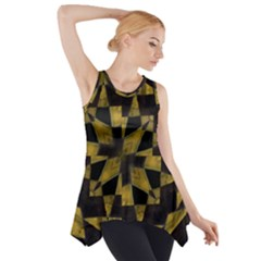 Bold Geometric Side Drop Tank Tunic