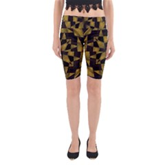 Bold Geometric Yoga Cropped Leggings