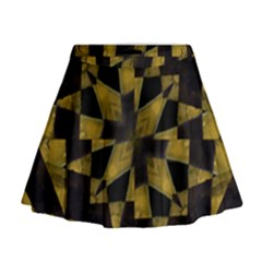 Bold Geometric Mini Flare Skirt
