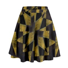 Bold Geometric High Waist Skirt
