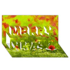 Poppy I Merry Xmas 3d Greeting Card (8x4)