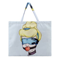 Bibbidi Bobbidi Bondage Zipper Large Tote Bag