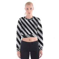 STR3 BK MARBLE SILVER (R) Women s Cropped Sweatshirt