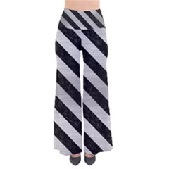 Stripes3 Black Marble & Silver Brushed Metal (r) So Vintage Palazzo Pants