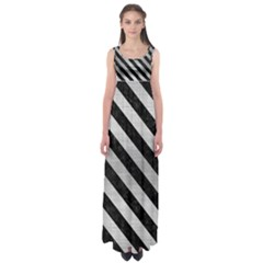 STR3 BK MARBLE SILVER (R) Empire Waist Maxi Dress