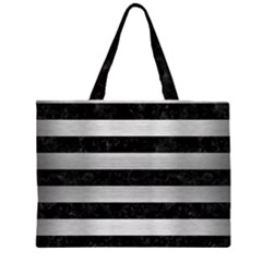 STR2 BK MARBLE SILVER Large Tote Bag