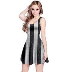 STR1 BK MARBLE SILVER Reversible Sleeveless Dress