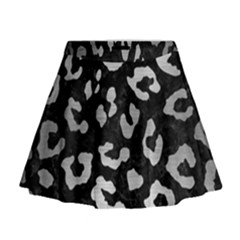 Skin5 Black Marble & Silver Brushed Metal (r) Mini Flare Skirt