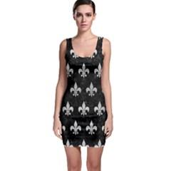RYL1 BK MARBLE SILVER (R) Sleeveless Bodycon Dress