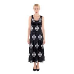 RYL1 BK MARBLE SILVER (R) Sleeveless Maxi Dress