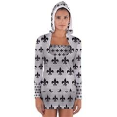 RYL1 BK MARBLE SILVER Women s Long Sleeve Hooded T-shirt