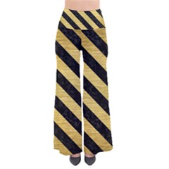 Stripes3 Black Marble & Gold Brushed Metal (r) So Vintage Palazzo Pants