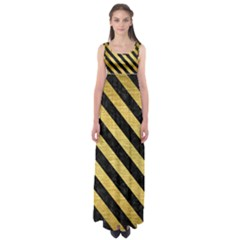 STR3 BK MARBLE GOLD (R) Empire Waist Maxi Dress