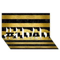 STR2 BK MARBLE GOLD #1 DAD 3D Greeting Card (8x4)