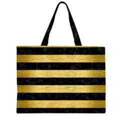 STR2 BK MARBLE GOLD Large Tote Bag