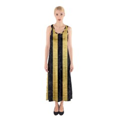 STR1 BK MARBLE GOLD Sleeveless Maxi Dress