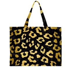 SKN5 BK MARBLE GOLD (R) Large Tote Bag
