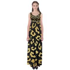 SKN5 BK MARBLE GOLD (R) Empire Waist Maxi Dress