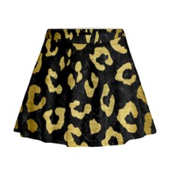 Skin5 Black Marble & Gold Brushed Metal (r) Mini Flare Skirt