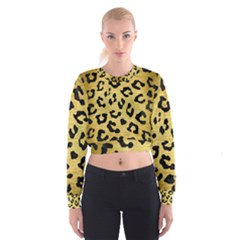 SKN5 BK MARBLE GOLD Women s Cropped Sweatshirt