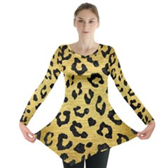 SKN5 BK MARBLE GOLD Long Sleeve Tunic